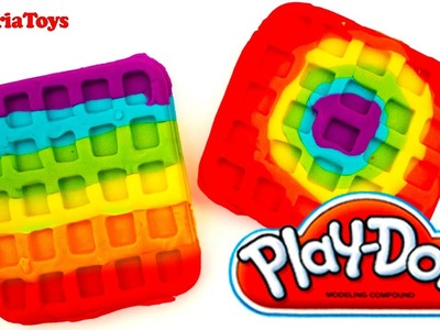Play Doh WAFLLES Rainbow Waffle Play Dough Desserts