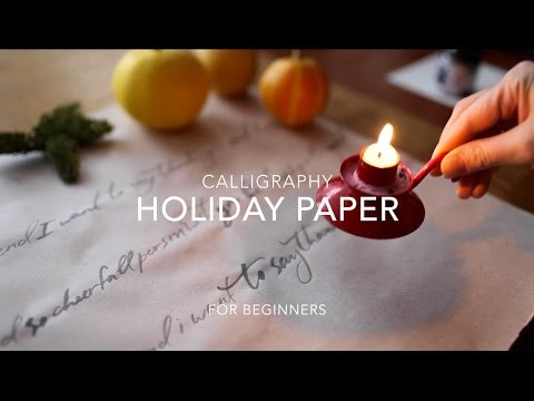 DIY Calligraphy Holiday Paper (for beginners)