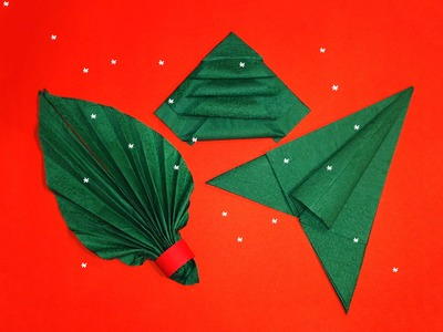 Napkin Folding  - 3 Best ideas for Christmas table decoration