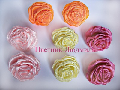 Роза канзаши \  Rose kanzashi \ DIY \МК