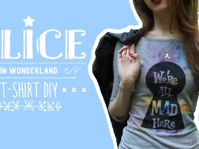 Футболка DIY Алиса в Стране Чудес | T-Shirt DIY Alice in Wonderland | Masherisha