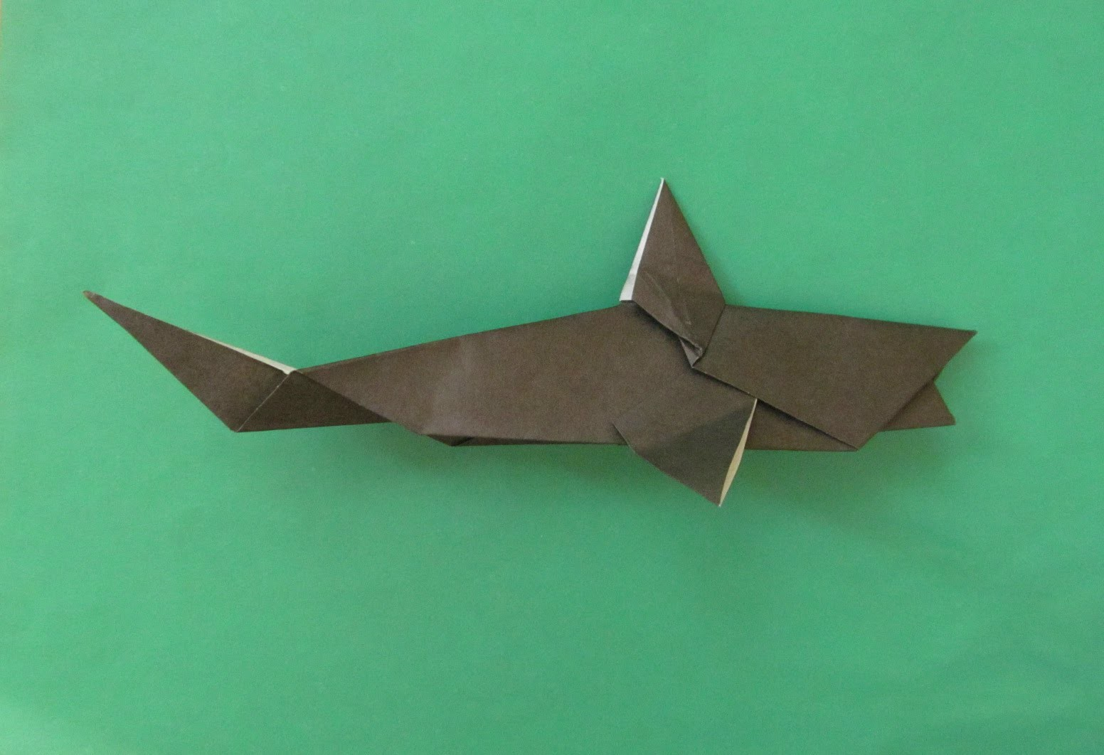 how to make shark origami