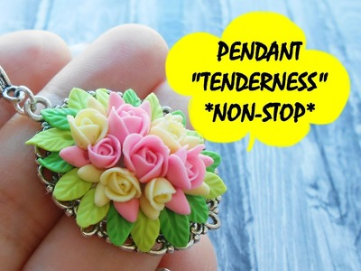 "PENDANT ""TENDERNESS"" * NON-STOP * POLYMER CLAY"