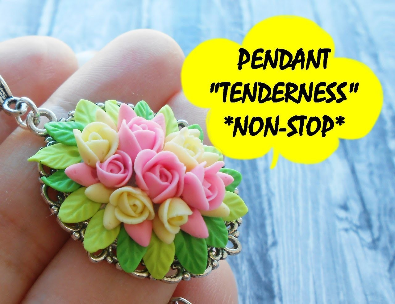 """PENDANT """"TENDERNESS"""" * NON-STOP * POLYMER CLAY"""