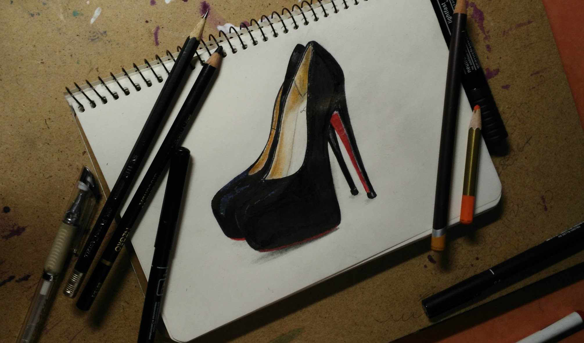 How to draw Louboutins