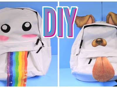 Snapchat-рюкзак!. DIY Snapchat Filter Backpacks! [Rus Sub] (русские субтитры)