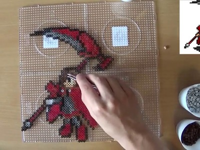 Термомозаика,.Ruby Rose -  - Perler Bead Sprite Time Lapse #356