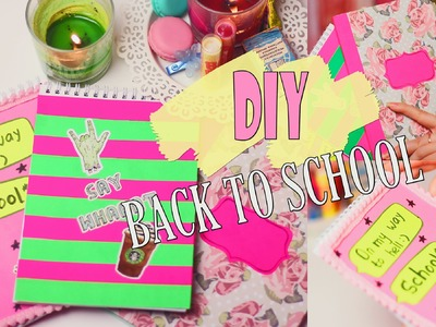 DIY:Back to school.School Supplies.Обложки для тетрадей.Fosssaaa