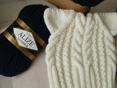 Шапка спицами. КотоШапка. Часть 2. . Knitting for kids. How to knit a hat