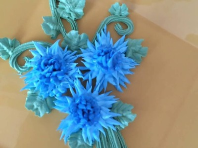 How to make centaurea flower. Как сделать васильки из крема