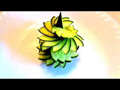 HOW TO MAKE CUCUMBER FLOWER. CARVING CUCUMBER. ART IN VEGETABLES