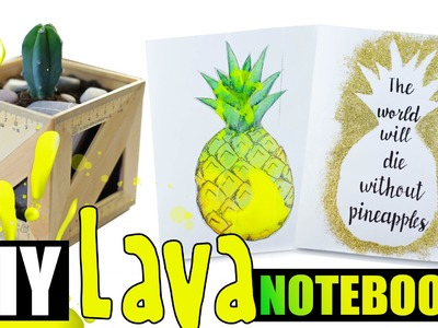 Тетради в школу * DIY Back to School *  идеи для школы * DIY Liquid Lava Notebook