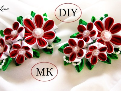 ЗАЖИМ ДЛЯ ВОЛОС, МК. Заколка Канзаши, МК. DIY Kanzashi HairClip