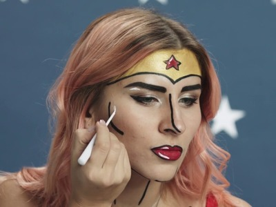 Halloween Special: DIY makeup tutorial «Wonder Woman.Чудо-женщина»