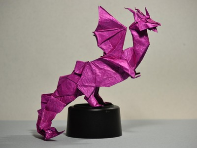 #29 Origami Dragon Heart by Fernando Gilgado (part 6 of  8)  - Yakomoga Origami tutorial