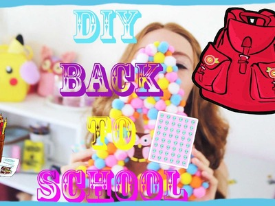 DIY BACK TO SCHOOL ! Яркий DIY! DIY с помпонами. Снова в школу!