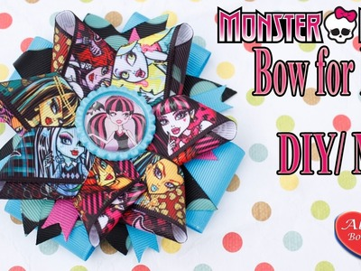 Monster High Бант для волос. МК. Bow for hair Monster High