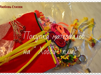 "Покупка материалов на "" Хобби- плюс"". The purchase of materials for the ""Hobby - plus"""
