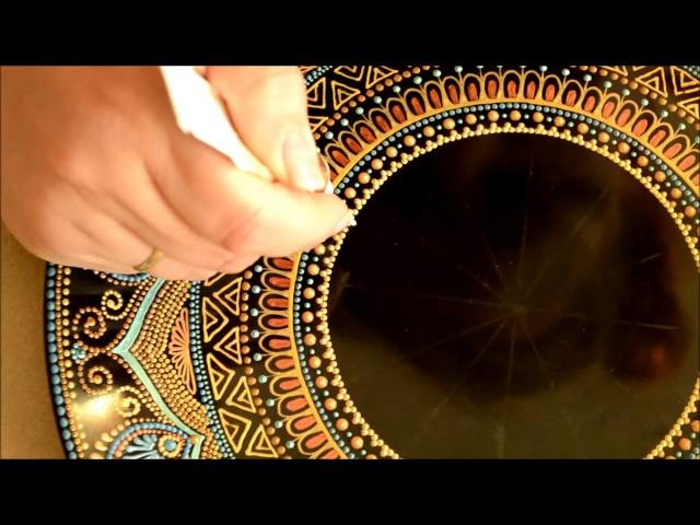 Process of painting plates