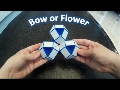 How To Make a Bow or Flower. Rubik's Twist. Tutorial. SLOW Step by Step