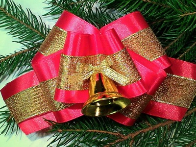 Новогодние Бантики. How to make a Christmas Bow. Christmas Bow Tutorial. DIY Christmas decorations
