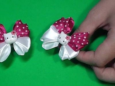 DIY Бантики Hello Kitty для малышек.Bow Hello Kitty for small girl