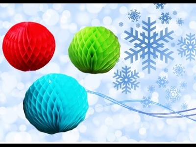 Мастер класс: Шарики из бумаги Honeycomb Paper Balls Craft | How to Make Paper Balls for Christmas