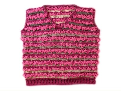 How to crochet  baby vest  for 3-4 y.o. PART 2\2  wwwika crochet #baby_vest #crochet