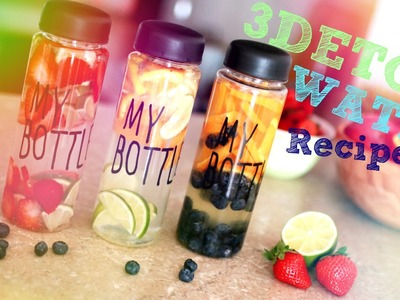 3 DETOX WATER Recipes | 3 ВАРИАНТА ДЕТОКС-ВОДЫ | SWEET HOME