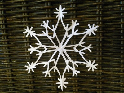 How to make a paper snowflake КАК ВЫРЕЗАТЬ СНЕЖИНКУ ИЗ БУМАГИ How to cut snowflakes