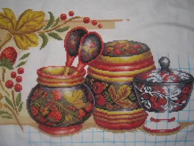 "Cross Stitch. Russian pattern ""Khokhloma"", Panna."