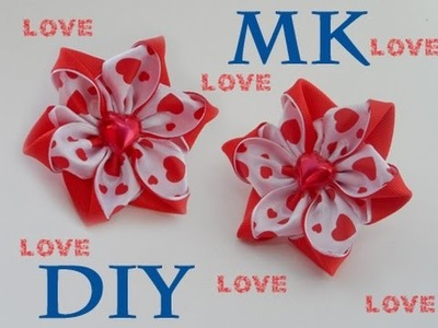 МК Резинки-Валентинки\Канзаши\DIY Elastic bands for hair \ Valentine's Day