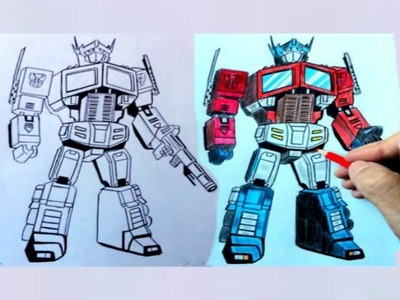 How to Draw Optimus Prime from Transformers_Super Easy video lesson(Ehedov Elnur)