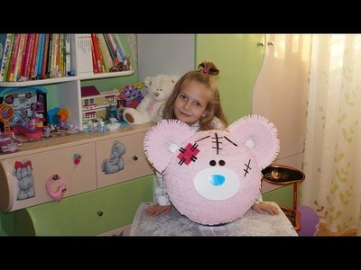 DIY пиньята Tatty Teddy Bear (Me to you) Мастер  класс pinata master class