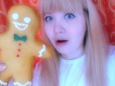DIY  Squishy.Homemade Squishy Tutorial.Stress Ball Squishy Gingerbread man!Diy антистресс из губки!