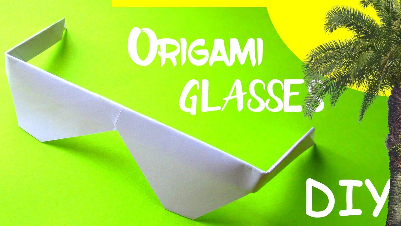 diy origami how to make a paper sunglasses glasses 3d