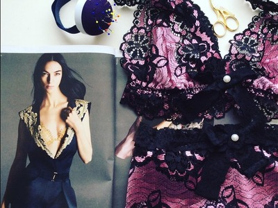 ✂️✅Sewing Lace Bralette+Underwear????: Шью кружевной браллет.KrisCityofLux