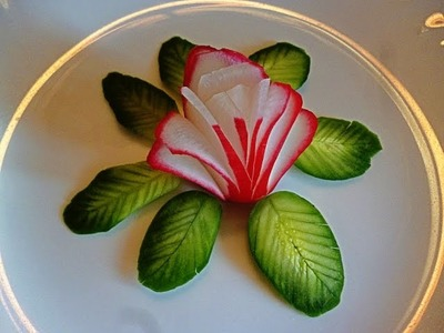 10 LIFE HACKS HOW TO CUT RADISH CUCUMBER BEAUTIFUL  & RADISH FLOWER GARNISH - CUCUMBER DESIGN