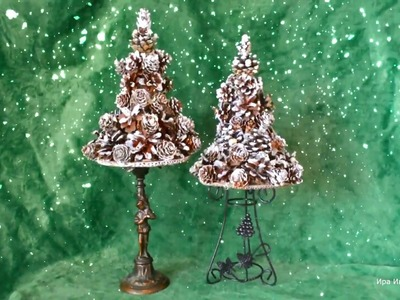 Christmas tree from the cones Елочка из шишек Мастер-класс