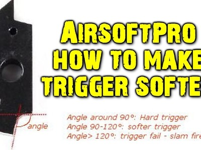 [Airsoft sniper rifle][VSR-10]AirsoftPro hard trigger, how to make soft.Как сделать мягкий спуск