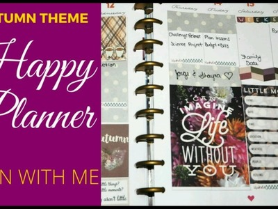????Plan With Me -- FREE AUTUMN PRINTABLES-  Happy Planner???? MomLife