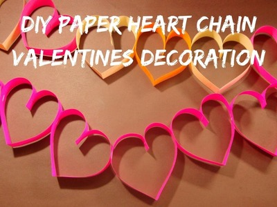 Valentines Day paper heart garland decoration.Paper Craft Ideas. бумажное сердце своими руками.