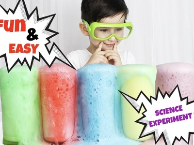 DIY: volcano vinegar soda easy experiment for kids QTiess , простой опыт для детей