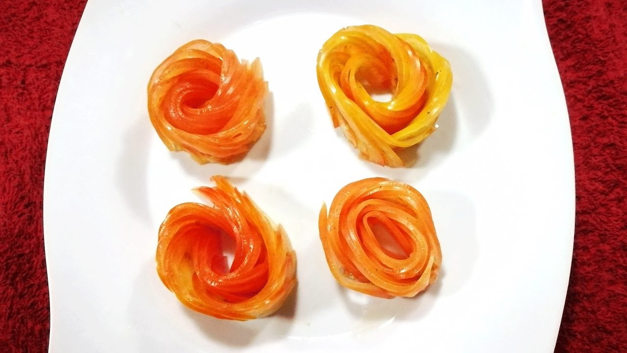 How to Design  tomato in to flower - vegetable carving