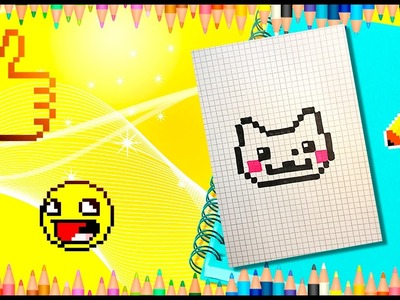 PIXEL ART! HANDMADE PIXEL CAT. Pixel simple cat. РИСУЕМ ПО КЛЕТОЧКАМ КОТА