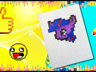 Pixel Art! How to draw pony? Pixel Twilight Sparkle pony