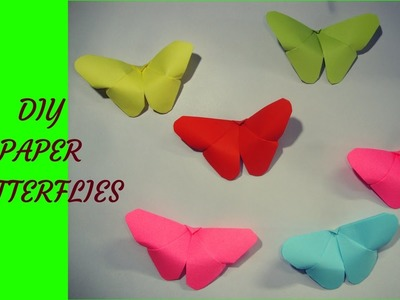 DIY crafts paper butterflies. mariposa de papel facil.