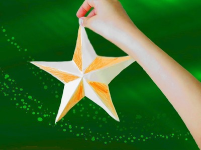 Как сделать звезду из бумаги быстро и  легко.  How to make a star out of paper quickly and easily.