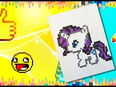 PIXEL ART! HANDMADE PIXEL My Little Pony Rarity. Part 1 and Part2 РИСУЕМ ПО КЛЕТОЧКАМ