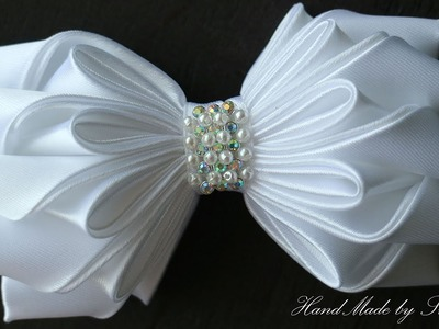Бантик из ленты КАНЗАШИ  DIY Bows made of ribbon Kanzashi Laço de Cetim